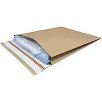 Kraft Mailer Eco V Bottom & Side Gusset Double P&S 400x500x50mm +100 flap Manilla Ref RBL10533 Pack of 50