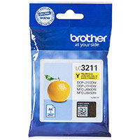 Brother LC3211Y Yield: 200 Pages Yellow Ink Cartridge