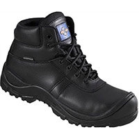 Rock Fall ProMan Size 12 Safety Boots Leather Fully Waterproof and Non Metallic Breathable Black