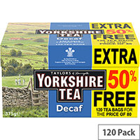 Yorkshire Tea Decaffeinated Ref 0403388 Pack of 120