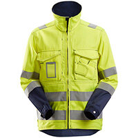 Snickers 1633 High-Vis Jacket Class 3 Size XS Regular Yellow & Navy