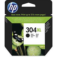 HP 304XL Yield: 300 Pages Black Ink Cartridge Ref N9K08AE