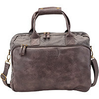 Pride and Soul Mystify 15inch Laptop Bag Grey/Brown Ref 47302