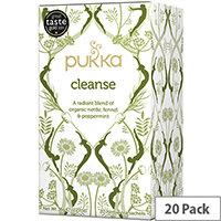 Pukka Individually Enveloped Tea Bags Cleanse Ref 5065000523473 Pack of 20