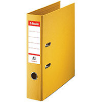 Esselte No.1 Power A4 Lever Arch File PP 500 Sheets 75mm Spine Yellow Ref 880027