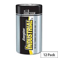 Energizer Industrial Size D Batteries 1.5V (12 Pack) 636108
