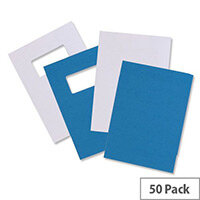 GBC Binding Covers Leatherboard Window 250gsm A4 White 46715E Pack 25x2