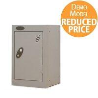 [Demo Model] Probe Quarto 1 Door Small Locker Extra Deep ACTIVECOAT 305x460x480mm Silver Body & Doors