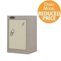 [Demo Model] Probe Quarto 1 Door Small Locker Extra Deep ACTIVECOAT 305x460x480mm Silver Body & White Doors