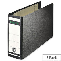 Leitz 180 A5 Oblong Black 77mm Lever Arch File Pack of 5