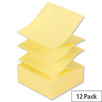 Post-it Z Notes 76x 76mm Canary Yellow Pack 12