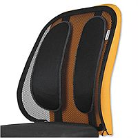 Mesh Fabric Back Support For Chairs With Tri-tensioner Attachment Fellowes Office Suite