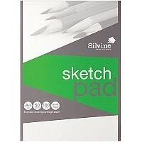 Silvine  A4  Popular Drawing Pad Acid Free Cartridge Paper 100g/m2  50 Sheets