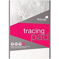 Silvine  A4  Popular Tracing Pad Acid Free Paper 63gsm  50 Sheets