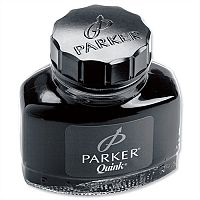 Parker Quink Ink Bottle Black 57ml – Smooth, Blot Free, Suitable For Fountain Pens, No Skipping Or Scratching