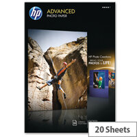 HP A3 Advanced Glossy Photo Paper 250gsm (Pack of 20)