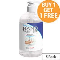 250ml Pump Hand Sanitiser - Fully Approved Ethanol Based Sanitising Liquid PCS 100380 Pack of 5