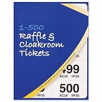 Cloakroom and Raffle Tickets Numbered 1-500 Assorted Colours Pack 12 Robinson Young
