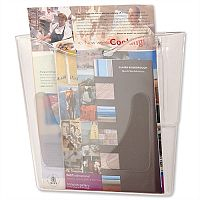 Deflecto Literature & Brochure Holder Wall Pocket Portrait Used In Many Different Environments Such As Reception Areas, Waiting Rooms, Shops, Travel Agencies & More.