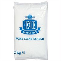 Tate and Lyle Granulated Pure Cane White Sugar Bag 2kg Ref A03912