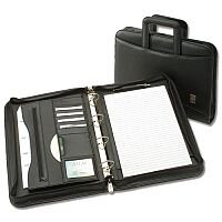 Office Conference 4 Ring Binder with Handles Capacity 60mm W275xH377mm A4 Black 5 Star