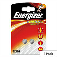 Energizer Pack Of 2 LR44 (A76) Button Cell Coin Batteries 1.5V - Suitable For Use With Hearing Aids, Wireless Keys, E-Book Readers & More.