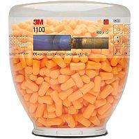 3M 1100B Uncorded Hypoallergenic Foam Ear Plugs  Dispensing Bottle containing 500 Ear Plugs