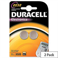 Duracell DL2032 Button Cell Coin Batteries – 220 mAh Capacity, 3 Volt, Lithium, 2 Pack, 10 Year Storage, High Quality, Suitable For Small Devices, Long Lasting & Triple Corrosion Protection (75072668)