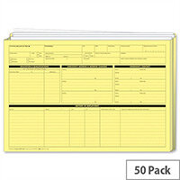Sigma Personnel Employee Wallets Extra Capacity Yellow Pack of 50