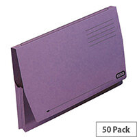 Elba Document Wallet Full Flap Foolscap Mauve Pack of 50