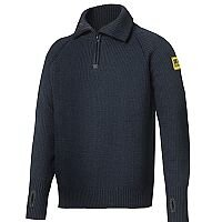 Snickers 2905 ½-Zip Wool Sweater Size XS Navy