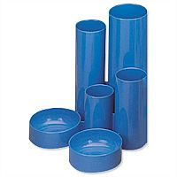 Desk Tidy Blue 6 Compartment Tubes 5 Star