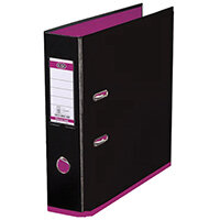 Elba MyColour Lever Arch File 80mm Polypropylene A4 Black and Pink