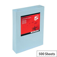 5 Star Multifunctional Blue A4 Paper 80gsm Paper Ream of 500 Sheets
