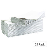 2Work Flushable C-Fold Paper Hand Towels Embossed 2-Ply White 96 Towels Per Sleeve 24 Sleeves (2304 Sheets) 2W00270