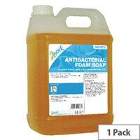 2Work Antibacterial Foaming Hand Soap Refill 5L (Pack 1) 2W01073