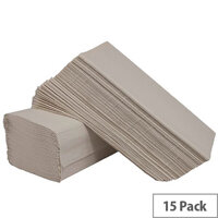 2Work White I-Fold 1-Ply Paper Hand Towel 240 Towels Per Sleeve 15 Sleeves (3600 Sheets) HIW136