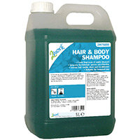 2Work Hair and Body Wash Shampoo High Foaming Apple Fragrance 5 Litre (Pack 1) 416