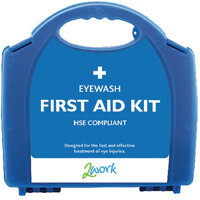 2Work Fist Aid Kit Eyewash Station with Eye Wash Pods Up to 5 Person X6060