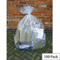 2Work Clear Wheelie Bin Liner 270 Litres Pack of 100. Made From 100% Recycled Material. These Bags Can Be Recycled Again After Use. Made From Polythene. Ideal In Any School, College, Office, Home & More.