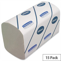 Kimberly Clark Kleenex Ultra 2 Ply White Hand Towel 124 Towels Per Sleeve 15 Sleeves (1860 Towels) 6778