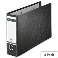 Leitz 180 A4 Lever Arch File Oblong 77mm Black Pack of 4