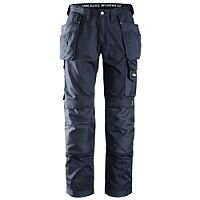 """Snickers 3211 Craftsmen CoolTwill Work Trousers with Holster Pockets Navy Waist 38"""" Inside leg 35"""" WW1"""