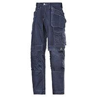 "Snickers Cotton Trousers Navy Waist 36"" Inside leg 37"" WW1"