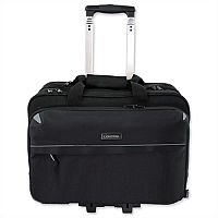 """Business Trolley Bag Black with 17"""" Laptop Compartment Nylon Lightpak"""