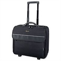 "Laptop Overnight Trolley Up To 17"" Black Nylon Lightpak Treviso"