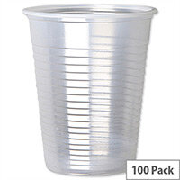 Cold Drink Disposable Plastic Cups Clear 7oz/200ml [Pack of 100]