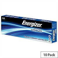 Energizer Ultimate AA Lithium Battery LR06 10 Pack – 1.5 Volt, Reliable, Wide Temperature Range, 15 Year Shelf Life, Cylindrical Size & Last 11 Times Longer Than Similar Batteries (634352)