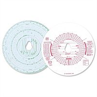Chartwell Tachograph Discs Kienzle Combined Manual and Automatic CK801/1101G Pack 100