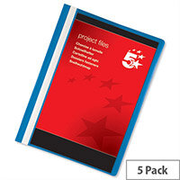 A4 Project Flat File with Indexing Strip Blue Pack 5 5 Star